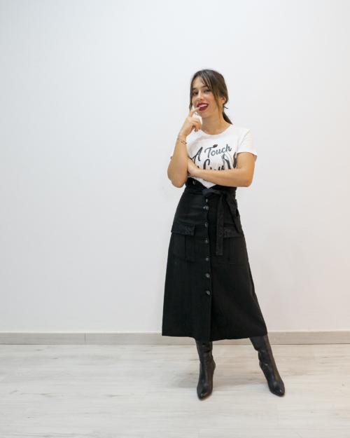 Falda negra FRACOMINA