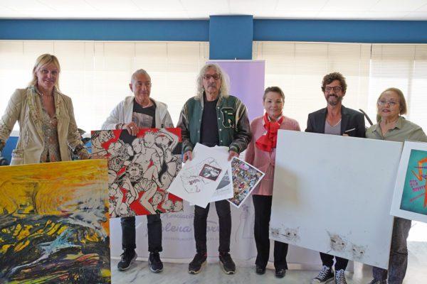 La Asociación Elena Torres recibe la donación de siete obras de arte valoradas en 5.250 euros